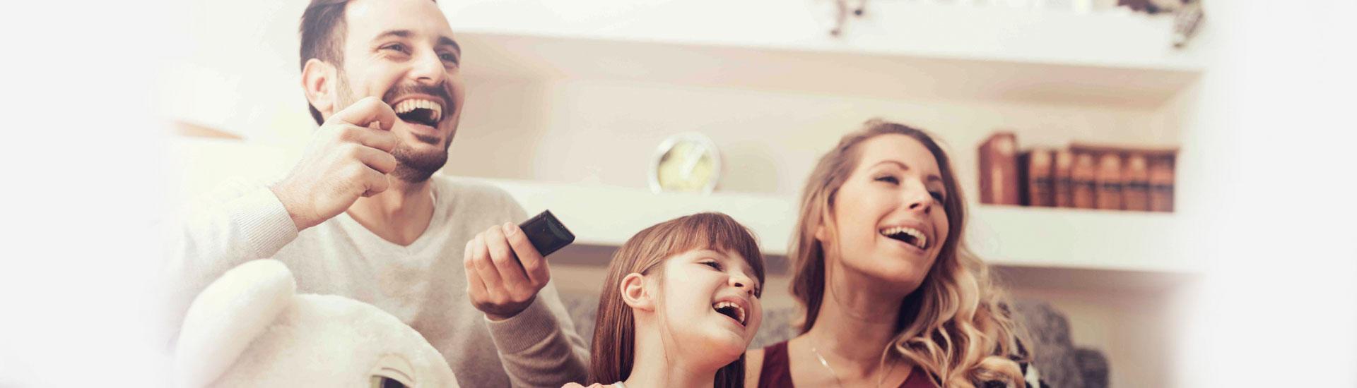 Haarscherp televisie kijken via glasvezel